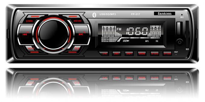 USB / SD ресивер, FANTOM FP-317 Black/Red
