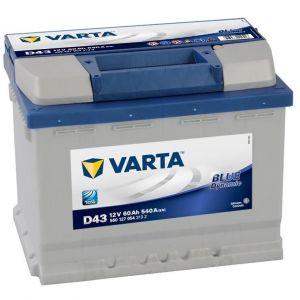 Акумулятор VARTA 60Ач 540А +/- 242*175*190 Blue Dynamic  D43